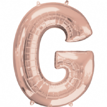 "Rose Gold Letter G Balloon - Rose Gold Letter Balloon (34"")"